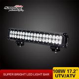 108W barras claras do diodo emissor de luz de 17.2 polegadas para fora da estrada