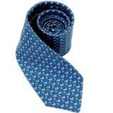 Tela impresa seda del 100% para la impresión teñida corbatas del hilado