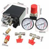El regulador multíple de la relevación del interruptor de la válvula de presión del compresor de aire calibra 180psi 240V 45X75X80m m populares