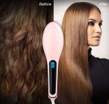 Brosse en céramique de Digitals d'anti redresseur statique professionnel de cheveux