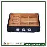 Contenitore di sigaro di legno Handmade di timbratura caldo con l'umidificatore