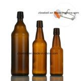 Frascos de cerveja de vidro do tampão da aleta com 1000ml (1L), 750ml, 500ml, 330ml