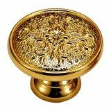 Perno del guardaroba di alta qualità e maniglia d'ottone di tiro placcati oro