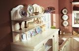 2017 gabinete de cozinha da madeira contínua de Welbom, mobília da cozinha da madeira contínua (zq-022)