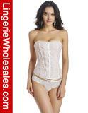 Las mujeres atractivas empujan hacia arriba un corsé más pechugón del cordón de Shapewear Overbust