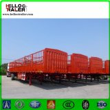 3 차축 60 Ton 밴 Cargo Stake 트럭 트레일러