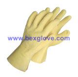 Вкладыш Джерси хлопка, покрытие латекса, пульсация ввел отделку в моду Crinkle, перчатку длины 35cm