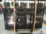 Lastra nera del marmo del tulipano del ghiaccio per materiale da costruzione
