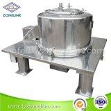完全なステンレス鋼の食品規格の上の排出の大きい固形分のための平らなフルーツジュースフィルター遠心分離機
