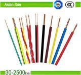 Fio elétrico isolado PVC 1.5mm do fio de cobre da fiação da casa