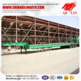 반 50 톤 세 배 차축 확장 가능한 낮은 침대 트럭 트레일러