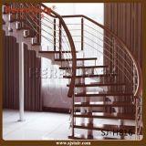 Ahorro de espacio de la escalera espiral del cable que cerca con barandilla (SJ-H820)