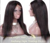 Handmade 똑바로 130%-180% 조밀도 인간적인 Virgin 머리 가득 차있는 레이스 가발 정결한 가발