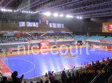 Bevloering Futsal F12 van het Polypropyleen van Cag van Nicecourt de Met elkaar verbindende Binnen (Gouden Zilveren Brons Futsal-)