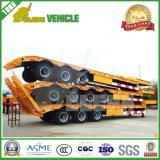 3車軸アルジェリアのための頑丈なトレーラー70トンの装置の輸送の低いベッドの