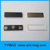Magnete ripetibile di plastica della modifica di nome/distintivo magnetico con adesivo