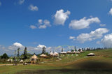 Tente 49sqm d'hôtel de Decagon située dans la ressource de montagne