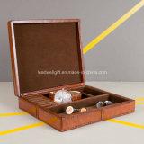 Коробка подарка случая хранения коробки ювелирных изделий сбор винограда кожаный