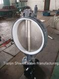Válvula de borboleta da bolacha de Dn600 Di Disco PTFE Assento com caixa de engrenagens