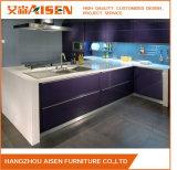 Lc-negativer Griff-Entwurfs-flache Oberflächen-Lack-Küche-Schrank
