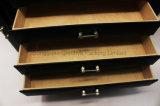 상한 까만 큰 수용량 가죽 보석 상자