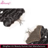 Frontals brasileiros do laço da onda 13X4 do corpo do cabelo humano de Remy