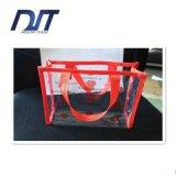 Sac cosmétique transparent de mémoire de sac de PVC de sac bon marché de lavage