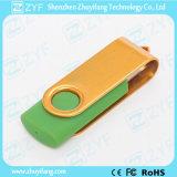 Movimentação quente do flash do USB da torção do giro da venda do logotipo feito sob encomenda (ZYF1257)