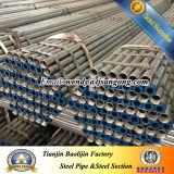 Galvanisiertes Stahlrohr mit Schutzkappe und Kupplung