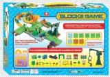 Serie del treno dei giocattoli della pista del gioco dei blocchi
