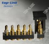 Gold überzogener Pogo Pin-Verbinder mit 5 Pin, hohe Haltbarkeit, hohe Präzision