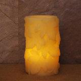 A cera Flameless decorativa do diodo emissor de luz da estação do outono Candles velas da folha de plátano do diodo emissor de luz
