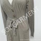Chandail mince tricoté par doux de mode long pour les femmes (SOITSW-32)