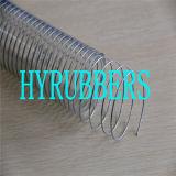 Flexibler PVC-Spray-umsponnener Schlauch, PVC-gewundener Schlauch, PVC-Saugschlauch