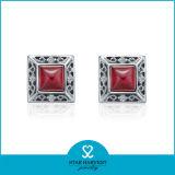 최신 판매 빨강 925 순은 귀걸이 최신 판매 (E-0052)
