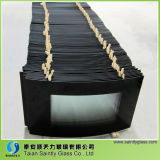 4m m Curved Tempered Decorative Glass Panel para Fireplace Door con Silk Screen Printing