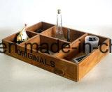 Vecchia scatola di presentazione di legno di sguardo personalizzata dello scompartimento di colore bianco