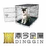 Gaiola da caixa do cão de animal de estimação do metal
