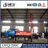 水のための200mのトレーラーによって取付けられる空気の掘削装置