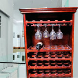 木製のホーム家具のワイングラスラックが付いているベストセラーのワインのキャビネット
