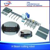 Winkel-Träger-Stahlplasma-Flamme-Ausschnitt-Maschine der Stahlkonstruktion-1000mm der Breiten-H I U mit Dampf-System Kr-Xh