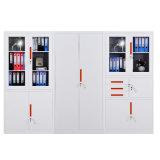Кухонный шкаф опиловки хранения металла 2 стеклянный дверей качания стальной для офисной мебели