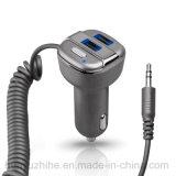 Bluetooth FMの送信機ハンズフリーキット車のMP3プレーヤーおよび充電器