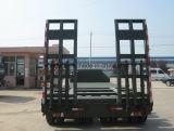 반 중국 굴착기 수송 거위 목 모양의 관 낮은 침대 트레일러