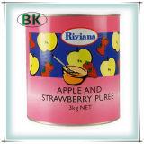 Latas enlatadas naturais do sumo de maçãs