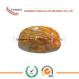 De glasvezel isoleerde 1000 graden op hoge temperatuur de rode en gele van de thermokoppeluitbreiding kabel