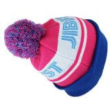 La aduana embroma el sombrero colorido de la gorrita tejida del telar jacquar POM POM