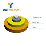 Het binnen Niveau van het Stootbord trad als buffer op vast voor de Simplex Singlemode Optische Kabel van de Vezel voor Aanleg van kabelnetten