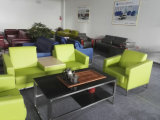 Cadeira do sofá do escritório do couro da cor verde (8553)