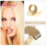 Neues unverarbeitetes gerades Jungfrau-Band-Haar kundenspezifische peruanische Menschenhaar-Extension